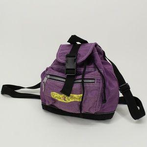 Vintage Purple Moon Purple Mini Backpack